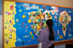 Work in progress: Mural commission, Crooked Creek Elementary School, USA