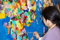 Work in progress: Mural Commission, Crooked Creek Elementary School, USA